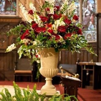 Flower Arrangement in Church