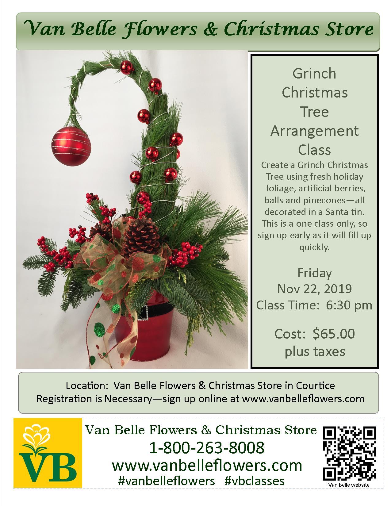The Grinch Christmas Tree.Grinch Christmas Tree Class Thursday November 21 2019 6 30pm