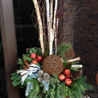 Custom outdoor christmas pots