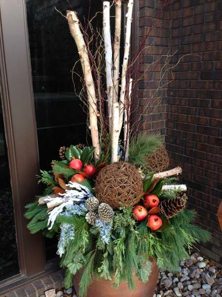 Decorating Ideas > Christmas, Van Belles Florist Durham Region, Plants, Decor ~ 085848_Christmas Decorating Ideas For Outdoor Planters